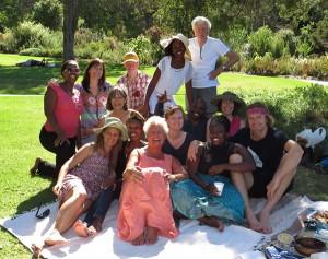 Storytellers getting up to mischief in Kirstenbosch gardens in Cape Town in March 2016